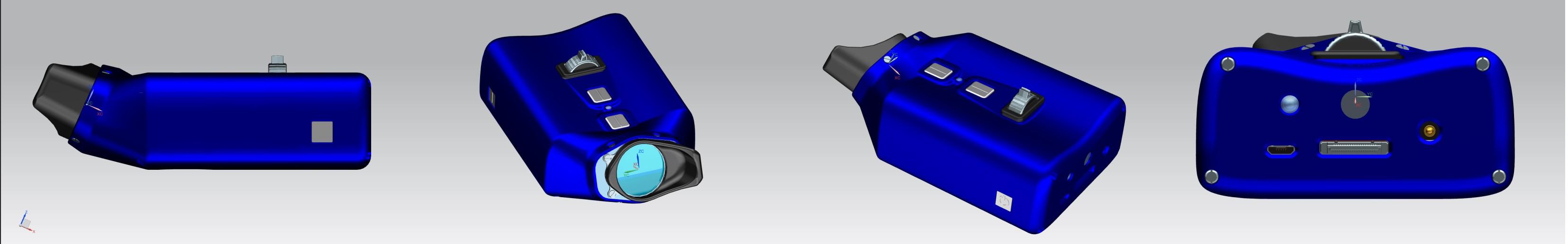 Das VoiSee wird von alle Richtungen in der Farbe blau dargestellt.
