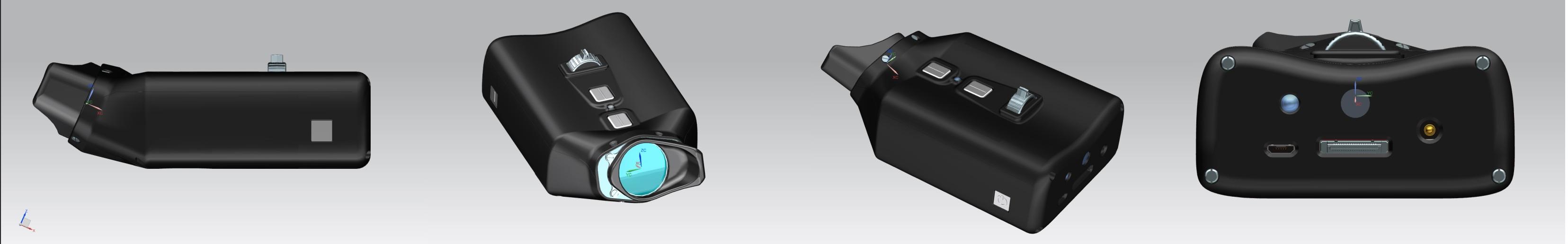 Das VoiSee wird von alle Richtungen in der Farbe schwarz dargestellt.