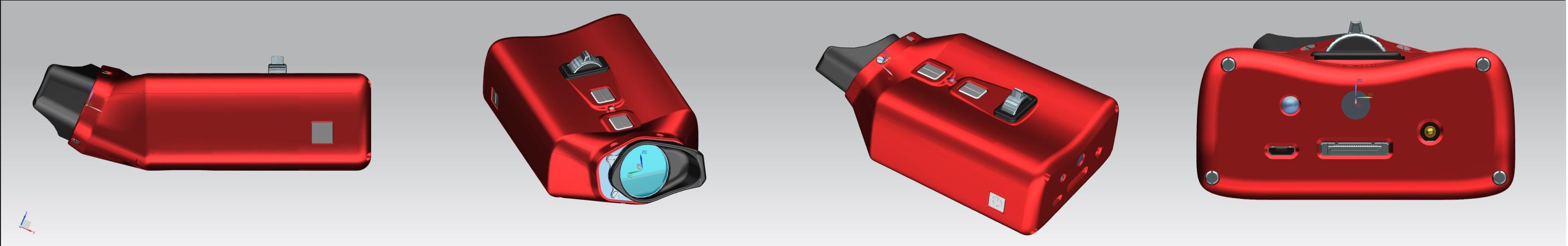 Das VoiSee wird von alle Richtungen in der Farbe rot dargestellt.